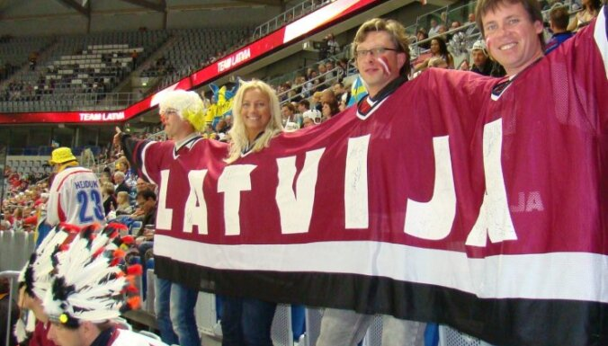 """Разогрев хоккейных фанатов — на выставке """"Сделано в Балтии"""""""