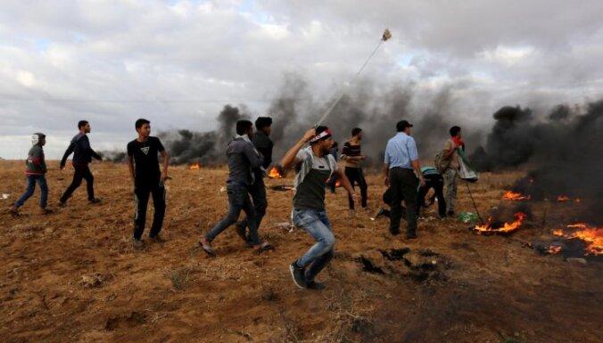Sadursmēs pie Izraēlas un Gazas robežas miruši pieci palestīnieši