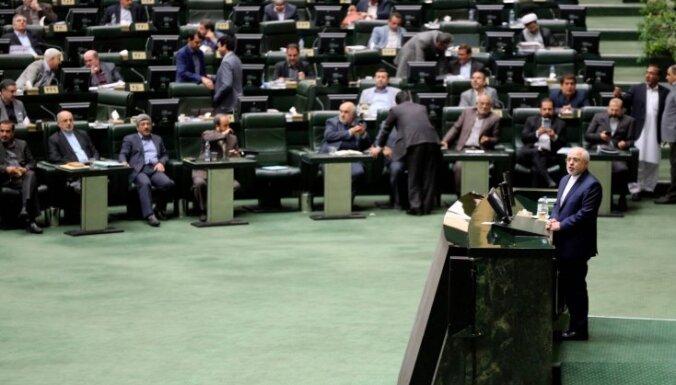Irānas parlaments varētu bloķēt iespējamo kompromisu par kodolvienošanās atjaunošanu