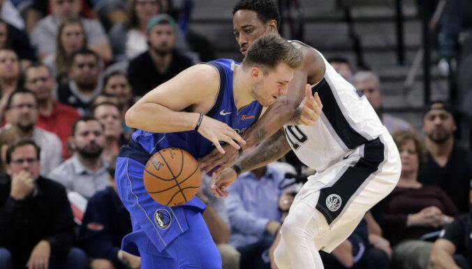 Bertāna pārstāvētā Sanantonio 'Spurs' NBA mačā uzvar 'Mavericks'