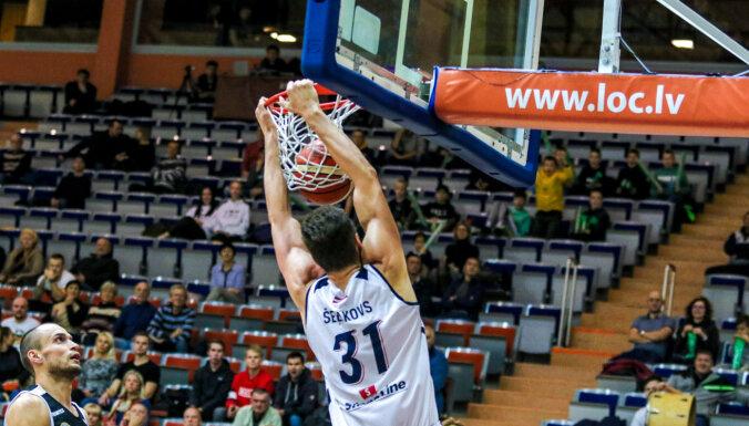 'Liepājas' un 'Latvijas Universitātes' basketbolisti uzvar Igaunijas komandas