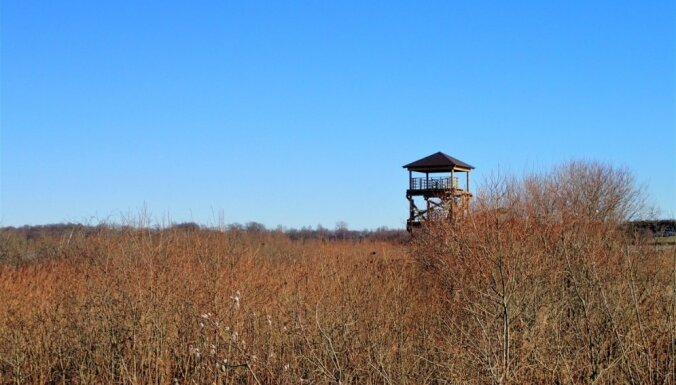 Foto: Durbē uzcelts jauns skatu tornis un izveidota pastaigu taka