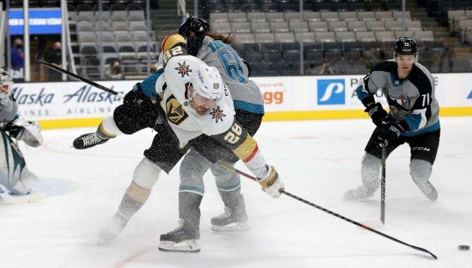 'Sausais' zaudējums NHL gan Balceram ar 'Sharks', gan 'Blue Jackets' bez latviešu vārtsargiem ierindā