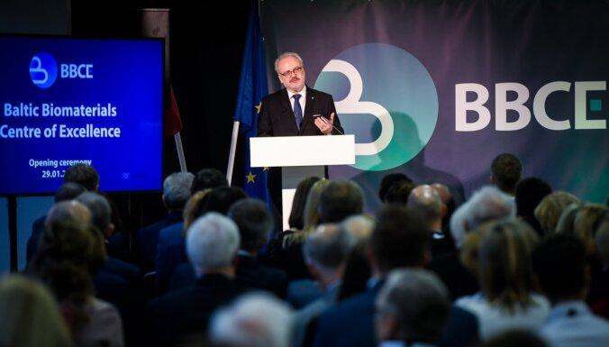 Levits BBCE projekta atklāšanā: izjūtu dziļu lepnumu par Latvijas zinātnieku rezultātiem