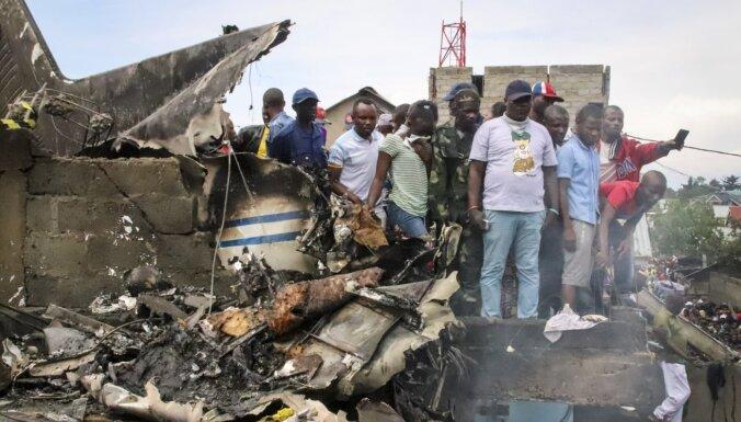 Lidmašīnas avārijā Kongo Demokrātiskajā Republikā 25 bojāgājušie