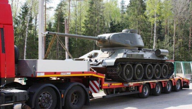 На границе с Белоруссией задержан танк Т-34 из Латвии