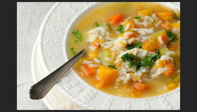 Vistas zupa ar rīsiem