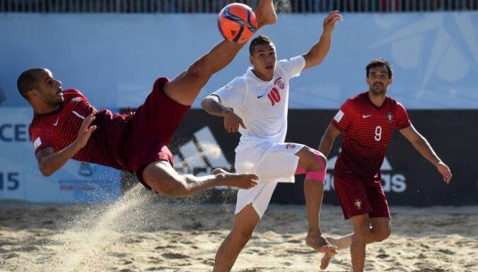Латвийский клуб занял 14-е место в Кубке чемпионов по пляжному футболу
