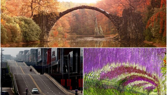 Neparastākie tilti, šosejas un ezeri: pasaules savdabīgāko vietu apkopojums