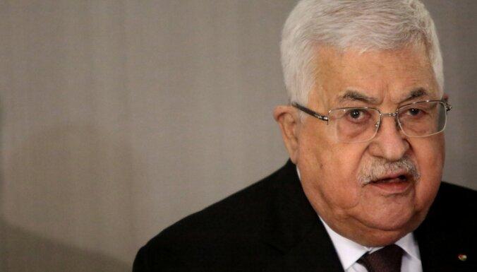 Palestīniešu līderis noraida Trampa Tuvo Austrumu miera plānu