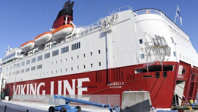 Финский паром в Балтийском море сняли с мели