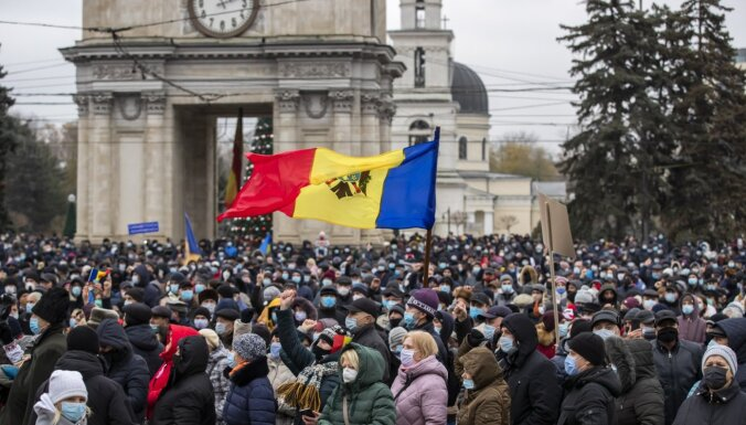 В Молдове идут массовые антиправительственные протесты