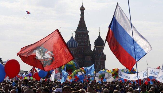 ФОТО: в Москве Первомай отметили в стиле СССР