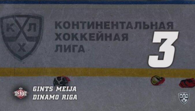 Video: Meija un Pavlovs izpelnās vietu KHL nedēļas spēka paņēmienu TOP 10