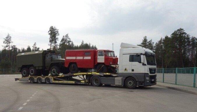На литовской границе задержан военный грузовик, следовавший из Беларуси