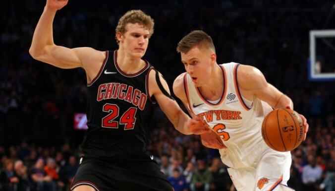 Porziņģis gūst 24 punktus divu pagarinājumu trillerī pret 'Bulls'