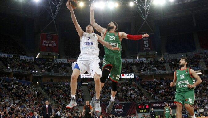 Euroleague Basketball. Baskonia vs CSKA Vitaly Fridzon vs Tornike Shengelia Baskonia