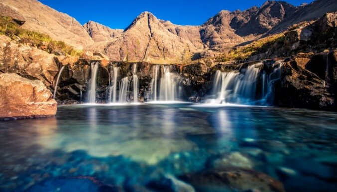 Kā no pasaku grāmatām – Laumiņu baseini Skotijā