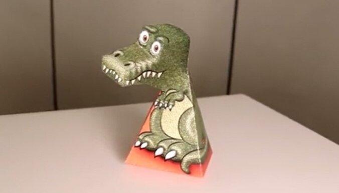 Optiskā ilūzija: Dinozaurs, kas seko acu skatienam