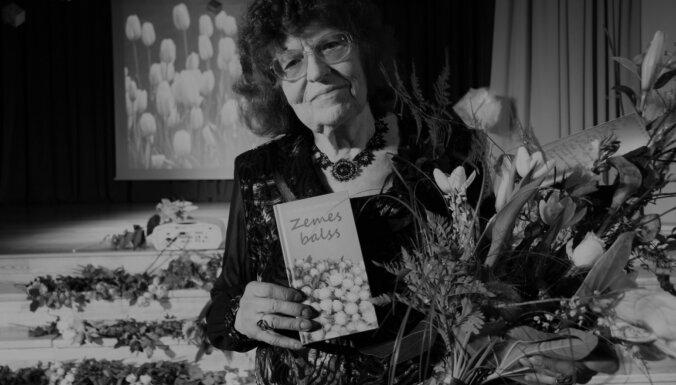 Mirusi tautā mīlētā dzejniece Kornēlija Apškrūma