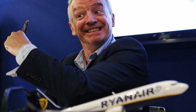 'Ryanair' iegādāsies 100 lidmašīnas par 11 miljardiem dolāru
