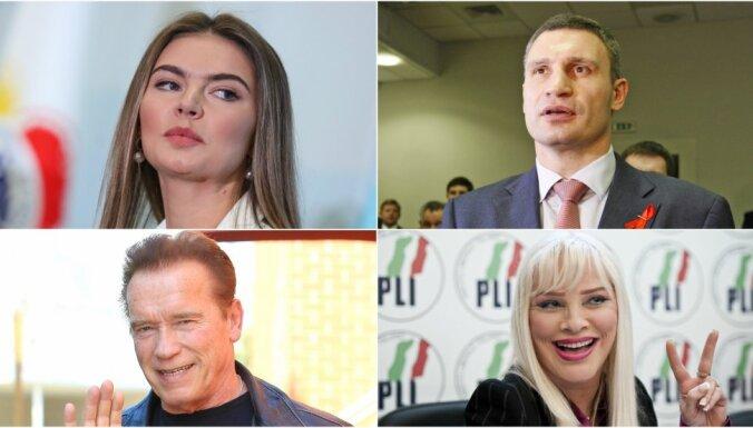 Aktieri, sportisti un pornozvaigzne: slavenības, kas pievērsušās politikai