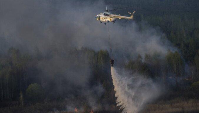 Ukrainā izcēlies ugunsgrēks aizliegtajā zonā ap Černobiļu