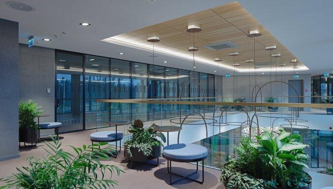 ФОТО: Сдан в эксплуатацию новый офисный комплекс Mežaparka birojs