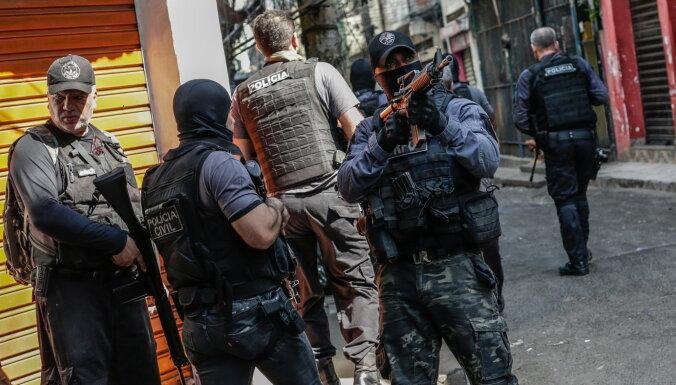 Policijas operācijā Riodežaneiro bojā gājuši vismaz 25 cilvēki