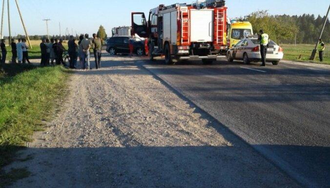 Pie Tukuma notikusi traģiska avārija; divi bojāgājušie