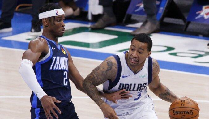 'Mavericks' bez Porziņģa un Dončiča piekāpjas 'Thunder' vienībai