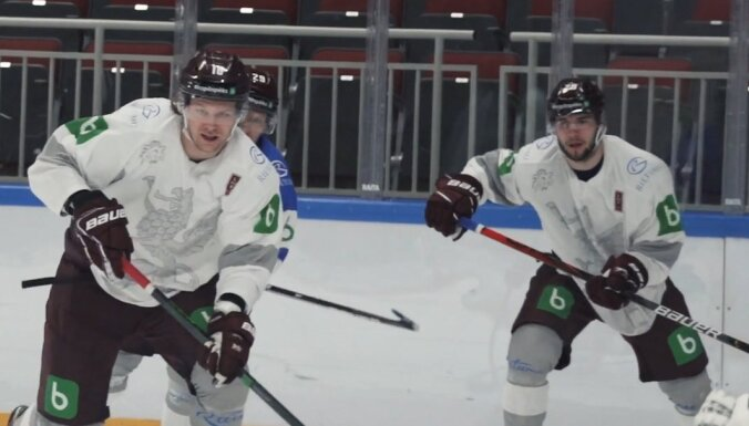 ВИДЕО: Как латвийские хоккеисты проводят время на самоизоляции