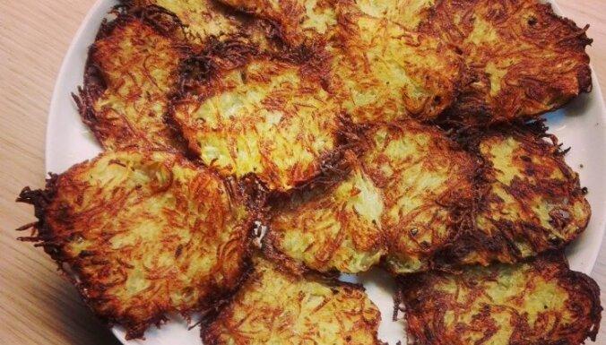 Īpaši kraukšķīgas kartupeļu pankūkas bez olām un miltiem