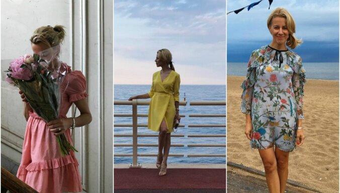 ФОТО: Как одевается Санта Замуэле, жена самого богатого человека в Латвии