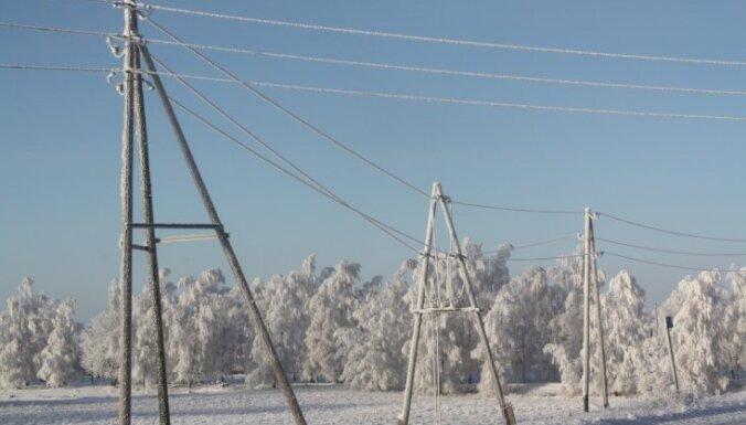 Из-за мороза могут быть перебои с электричеством на востоке и в центральной части Латвии