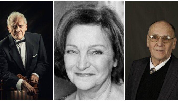 Teātra Zelta fondā uzņemti Vija Blūzma, Jānis Dreiblats un Āris Jānis Rozentāls