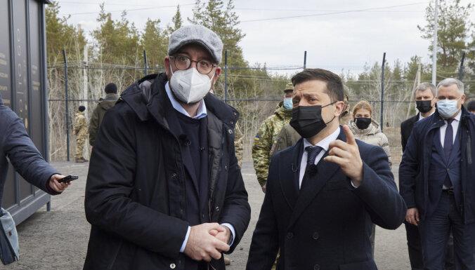Глава Евросовета Шарль Мишель в ходе визита в Украине затронул тему Донбасса и России