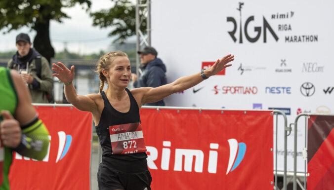 Чемпионами Латвии на Рижском марафоне стал Берзиньш и Круминя