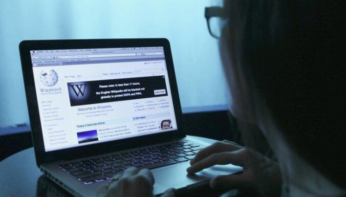 Uzbrukuma dēļ daļēji pārstājusi darboties 'Vikipēdija'