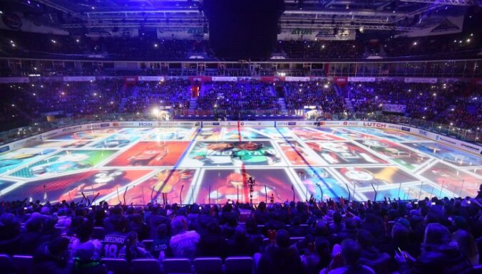 opening ceremony of the Kontinental Hockey League s master show