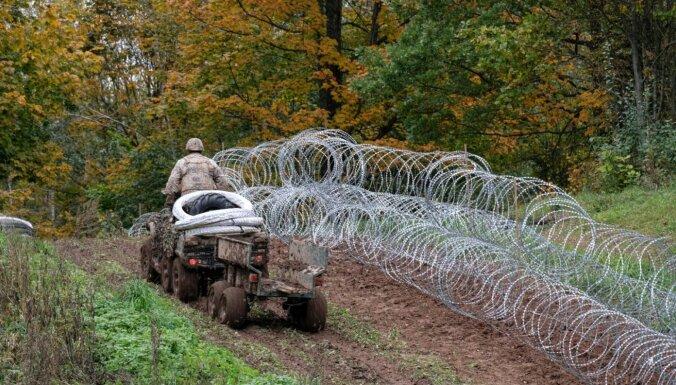 Забор, который Словения подарила Латвии, установили на самом опасном участке границы (фото)
