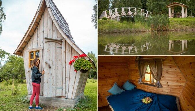 Jauna naktsmītne Latvijas apceļotājiem: pasaku namiņi Latgalē