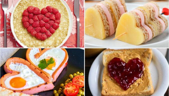 10 vienkāršas idejas romantiskām Valentīna dienas brokastīm