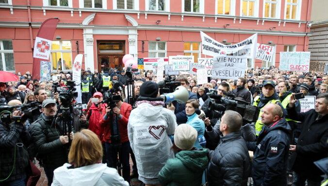 Завтра состоится вторая акция протеста медиков, профсоюз ожидает 2000 участников