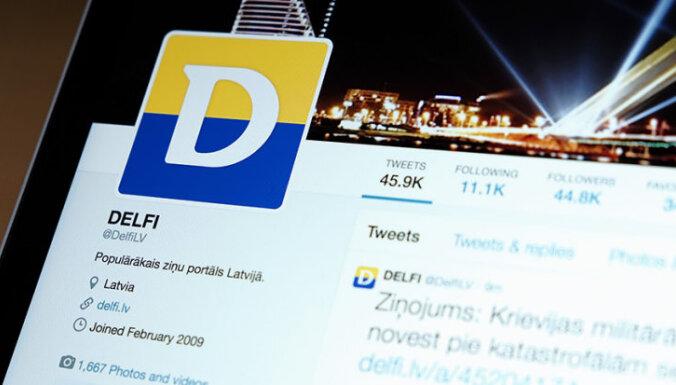 DELFI - 15: 'Paldies Delfiem' un citi viedokļu līderu tvīti; mūsu ietekme sociālajos tīklos