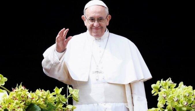 Pāvests Francisks Lieldienu uzrunā aicina izbeigt konfliktus