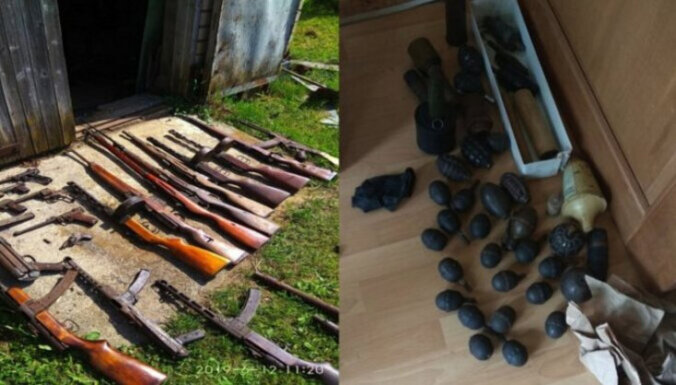 От карабинов до револьверов: в Латвии изъято нелегальное оружие