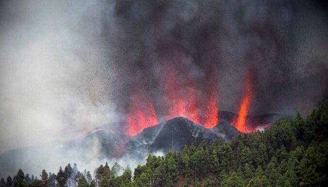 Kanāriju salās sācies vulkāna izvirdums
