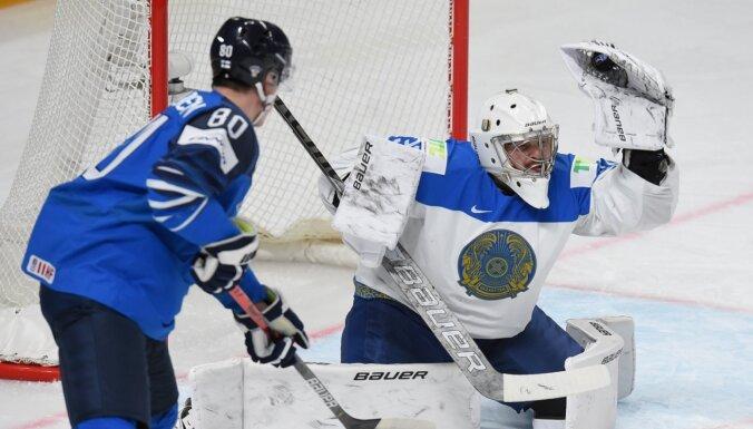 Sensācijas turpinās – Kazahstānas hokejisti pieveic pasaules čempioni Somiju