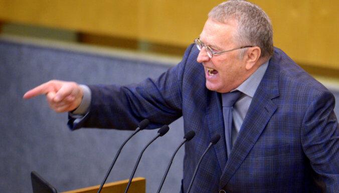 Žirinovskis nokaitinājis Dagestānu; pieprasa Putinam atņemt viņa deputāta mandātu